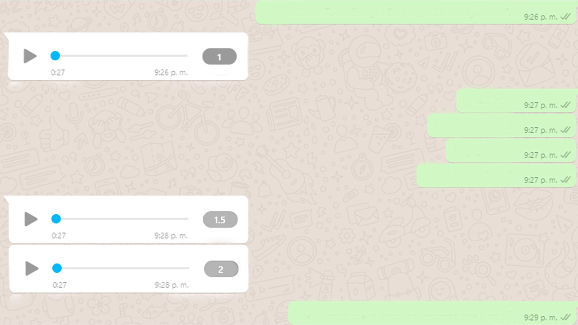 audios de WhatsApp WEB